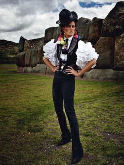 Isabeli Fontana inside French Vogue's Peruvian issue