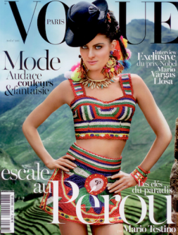 Mario Testino's cover for the Peruvian special issue of French Vogue