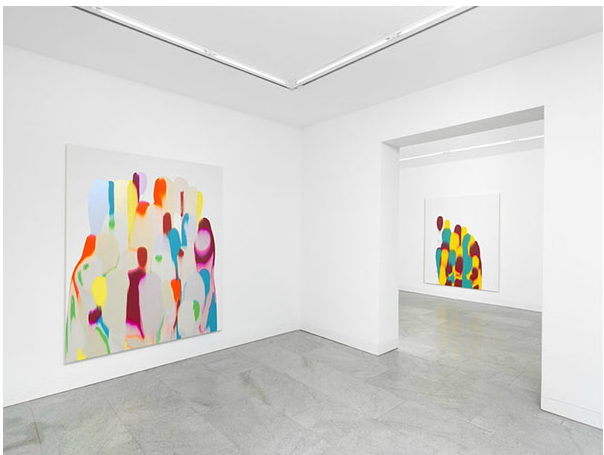 Installation view of Gush at Dittrich & Schlechtriem, Berlin