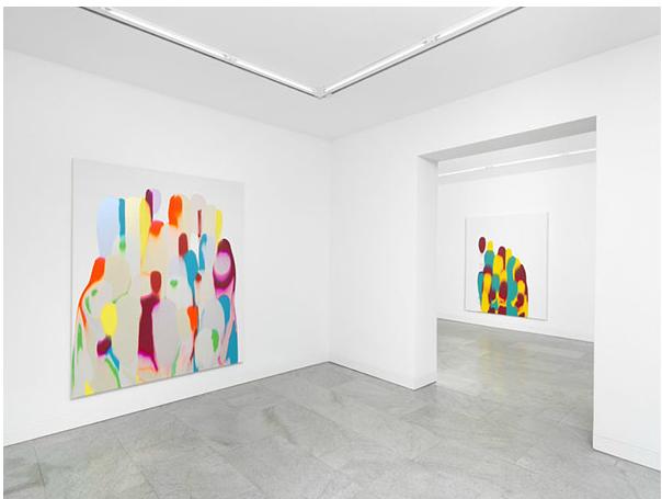 Installation view of Gush at Dittrich & Schlechtriem, Berlin