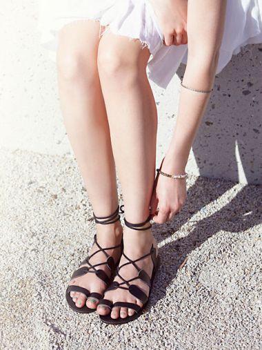 Vegan Tie Up Sandal
