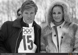 Robert Redford and Camilla Sparv