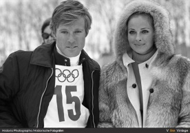 Robert Redford and Camilla Sparv