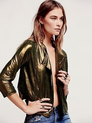 Free People, Bright Light Leather Jacket £500.00 www.freepeople.co.uk