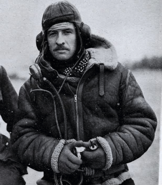 The Irvin Flying jacket as modelled by a handsome WWII pilot