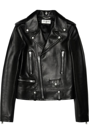 Saint Laurent Black Leather Jacket £3,100.00 www.netaporter.com
