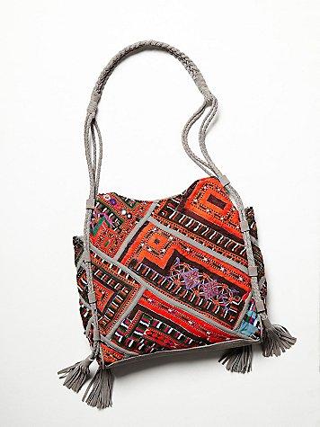 Tapestry & Tassel Tote B