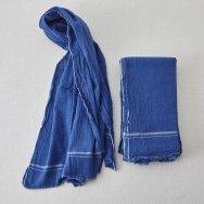 Khaki indigo textile $45