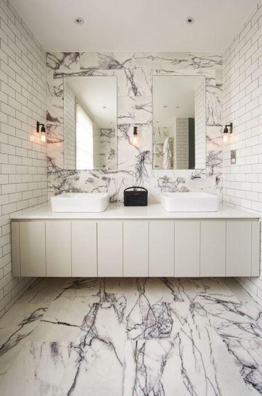 A marble bathroom