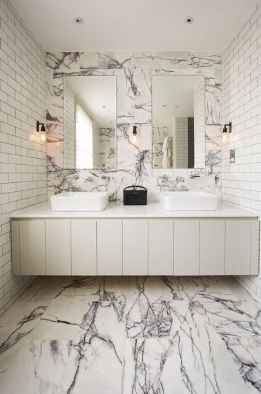 A marble bathroom