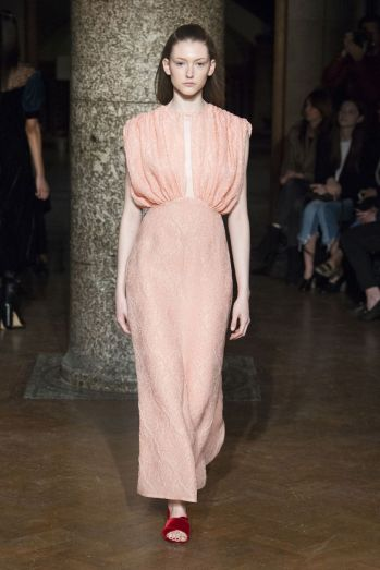 Millennial pink was a big trend on the catwalk in 2016, Emilia Wickstead AW17