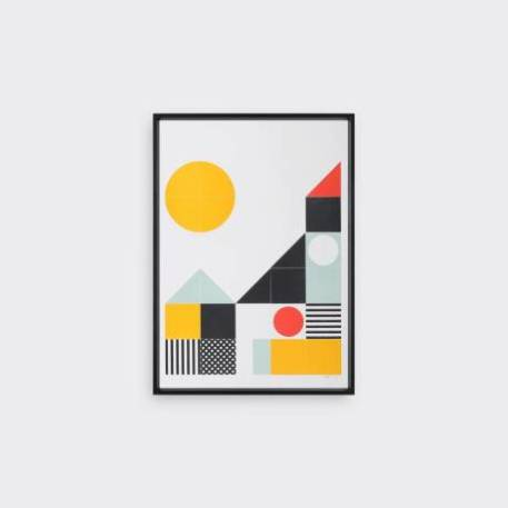 Tom Pigeon Play Geometric print