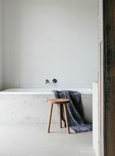 Stone bathroom interior
