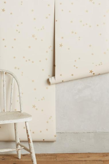 Gently patterned wallpaper