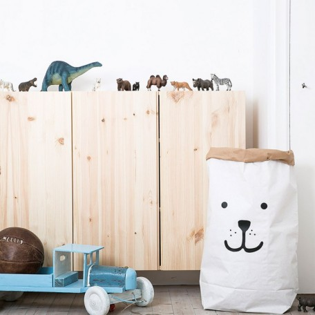 Hus & Hem, Tellkiddo Bear Paper Storage Sack