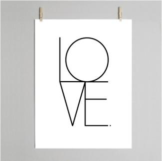 Dowse love print